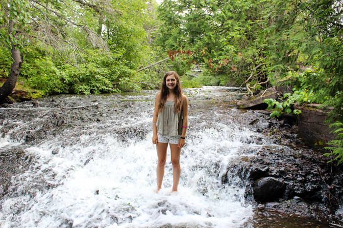 leigha in waterfall