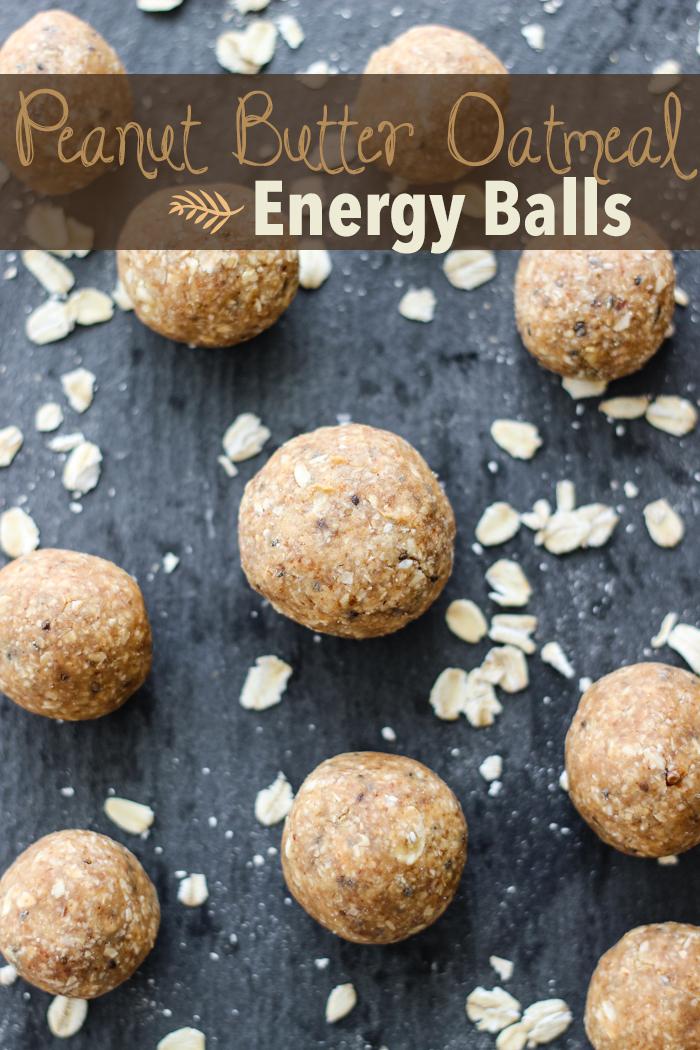peanut butter oatmeal energy balls | The Yooper Girl