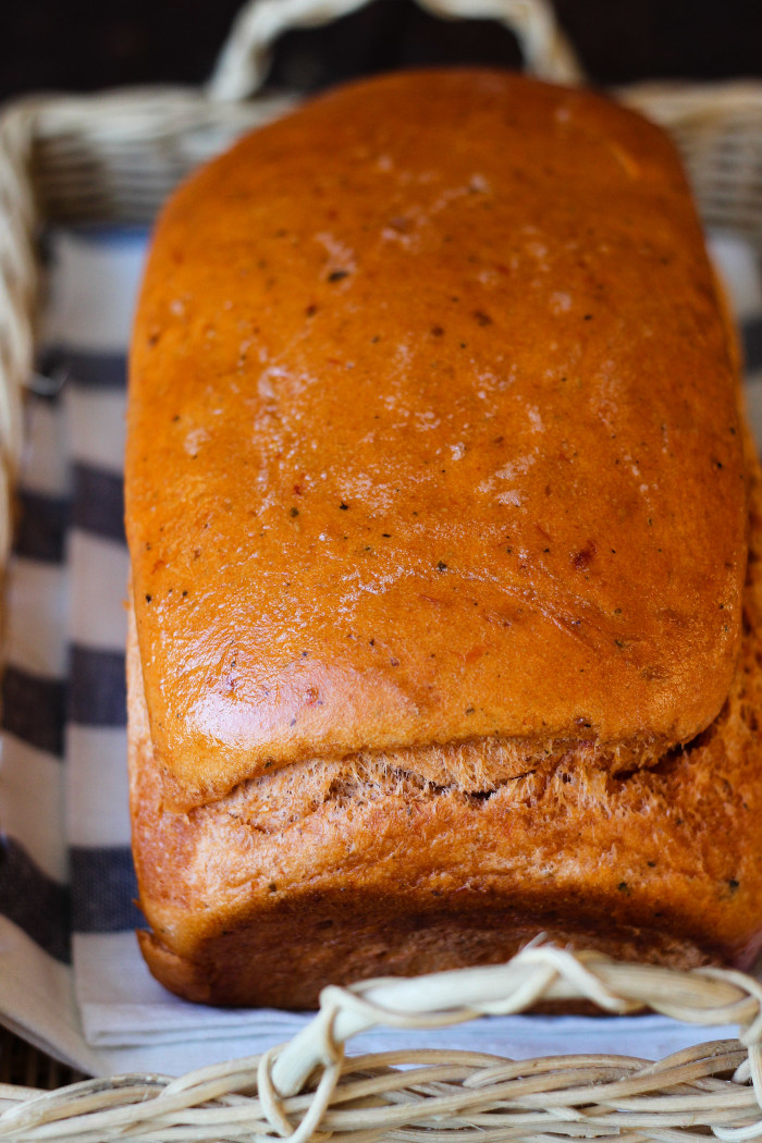 Easy Tomato Basil Bread