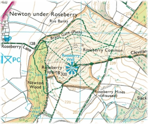 Ordnance Survey OL26 Roseberry Toppinh