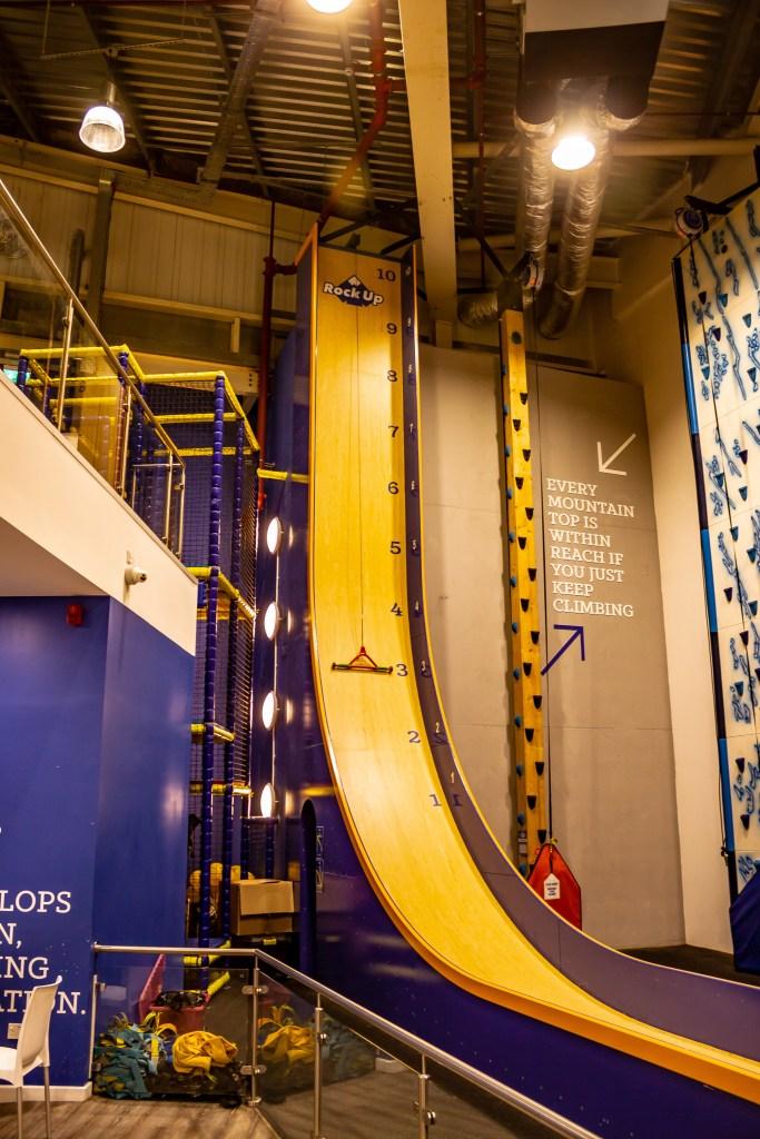 Rock Up Hull indoor rock climbing vertical slide