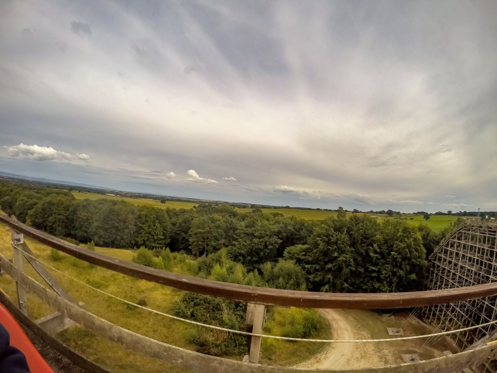 Lightwater Valley Theme Park view from the top of the Ultimate