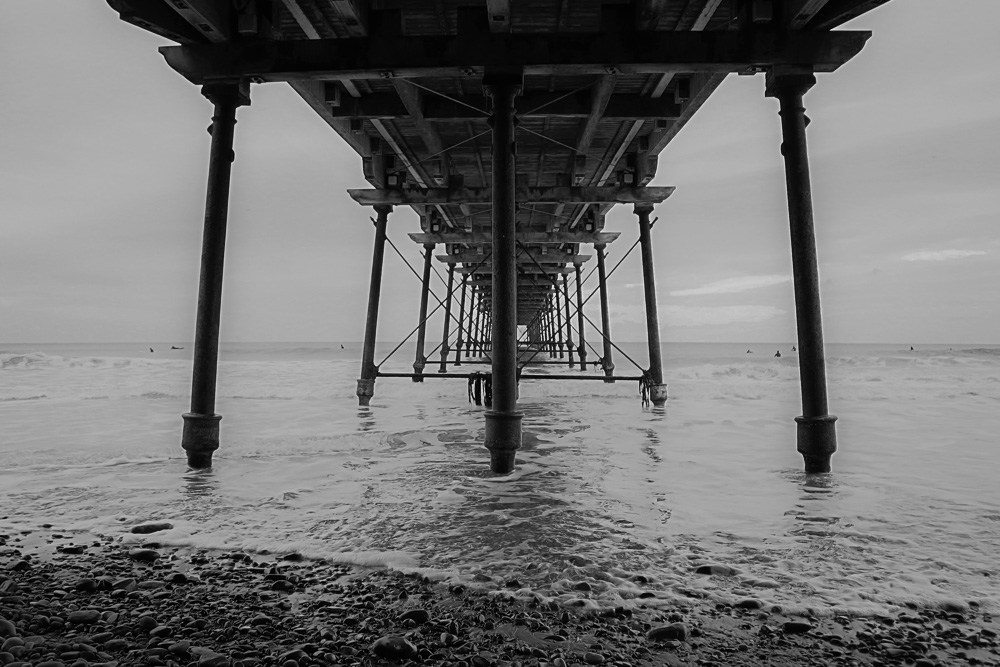 Saltburn-by-the-Sea under the pier