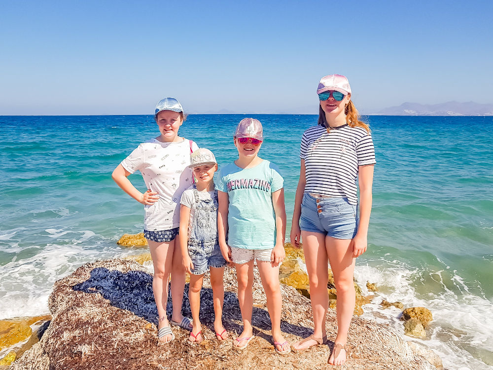 A Month in Photos – September 2018 | Yorkshire Dad of 4 | daughters portrait Tigaki, Koz, Greece, Dodecanese, Aegean Sea