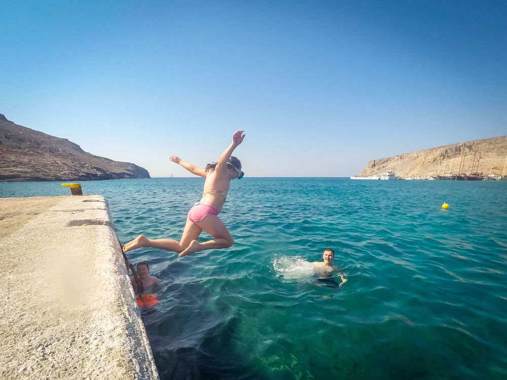 A Month in Photos – September 2018 | Yorkshire Dad of 4 | leap of faither, sea jumping, Psérismos island, Dodecanese, Greece, Aegean Sea