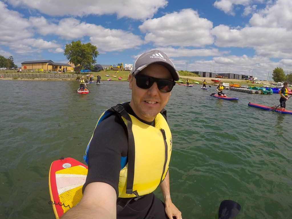 Paddleboard selfie | The Yorkshire Dad of 4