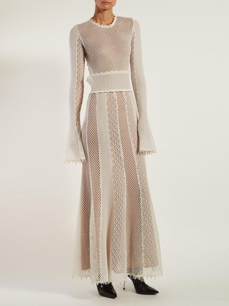 alexander mcqueen white wedding dress fashion style bridal designer runway