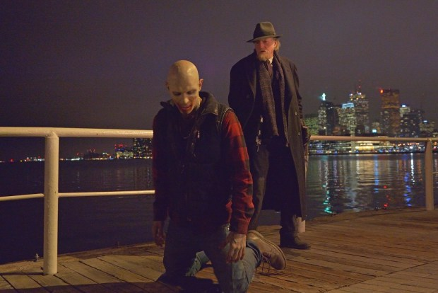"THE STRAIN -- ""Fort Defiance"" -- Episode 203 (Airs July 26, 10:00 pm e/p) Pictured: (right) David Bradley as Abraham Setrakian. CR: Michael Gibson/FX"