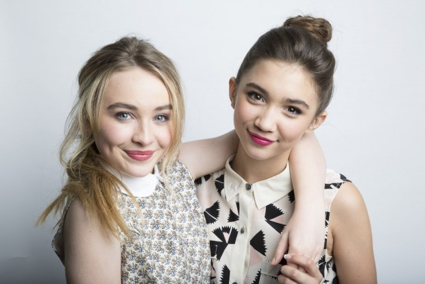 "Actors Sabrina Carpenter, left, and Rowan Blanchard, from the upcoming Disney Channel series ""Girl Meets World"" pose for a portrait, on Monday, June 23, 2014 in New York. The series, premiering on June 27, is a sequel to the 1990s series, ""Boy Meets World."" (Photo by Amy Sussman/Invision/AP) ** Usable by LA and DC Only **"