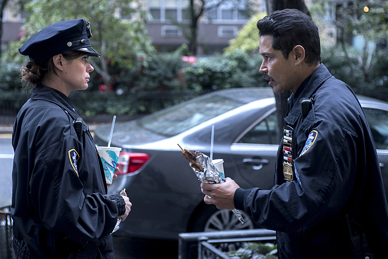 """Frequency -- """"Seven Three"""" -- Image Number: FRQ_104c_0065.jpg -- Pictured (L-R): Peyton List as Raimy and Anthony Ruivivar as Stan -- Photo: David Giesbrecht /The CW -- © 2016 The CW Network, LLC. All rights reserved."""