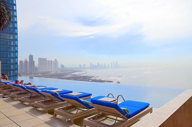 Trump Ocean Club Infinity pool on the 35th floor!
