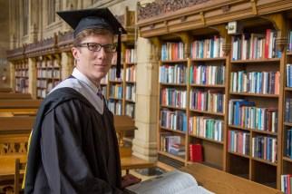 Ryan among the books.