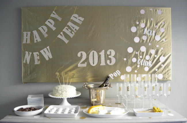DIY Dcor For A New Years Eve Party They So Loved