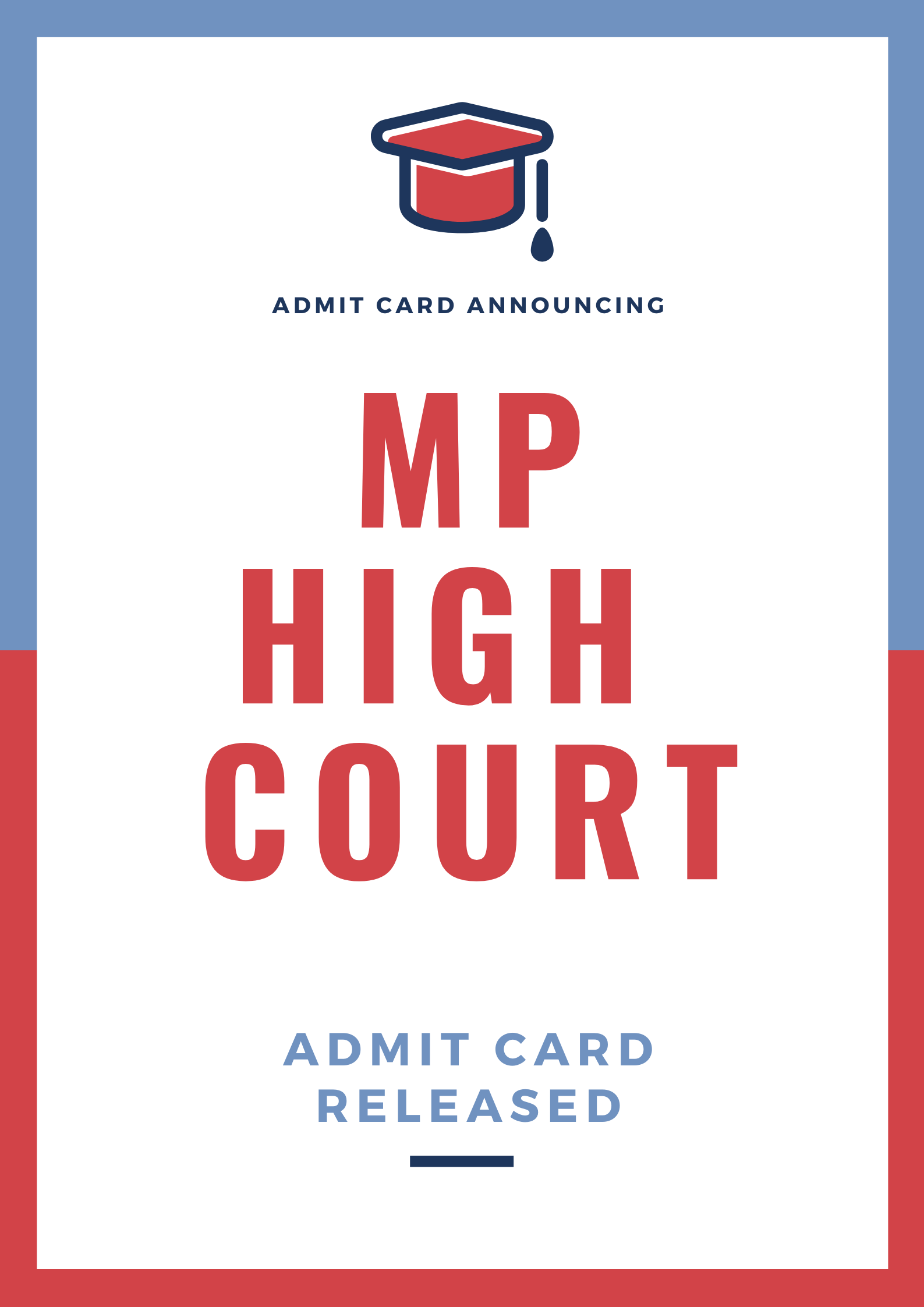MP High Court Admit Card - 2020 Out