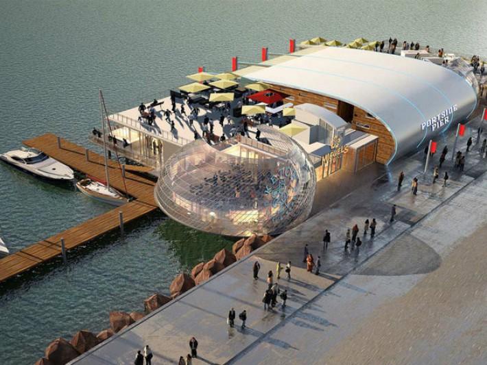 Construction begins on Portside Pier