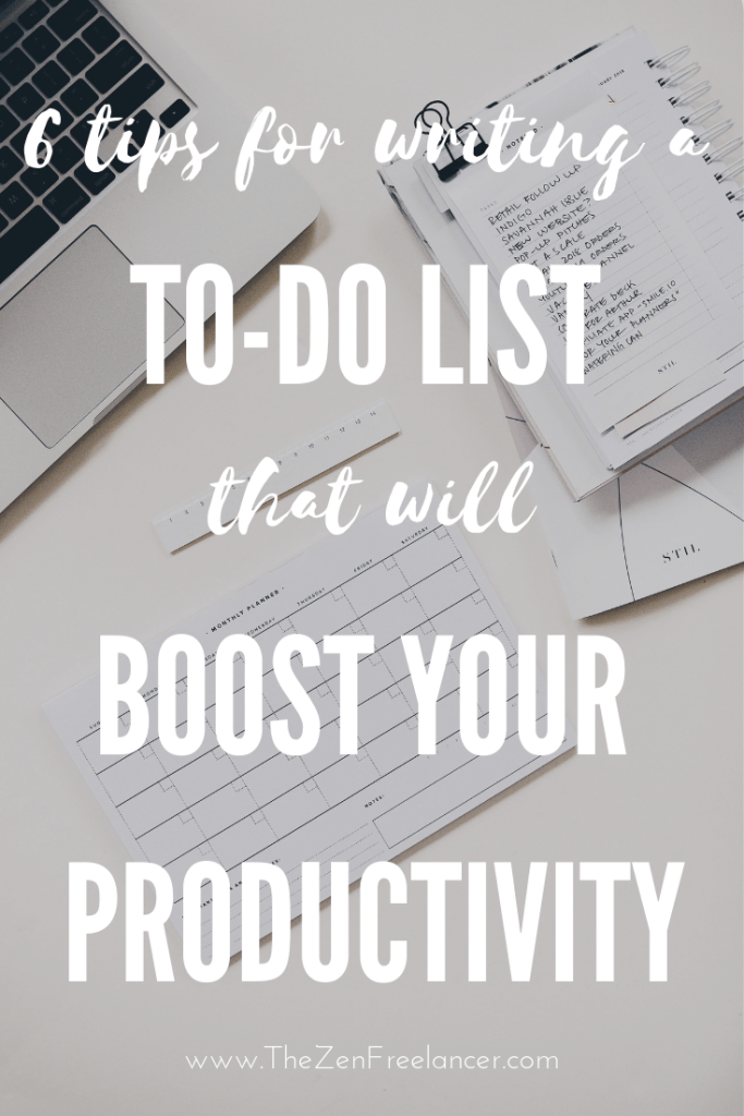 6 Tips for Writing a To-Do List That Will Boost Your Productivity. Learn how to prioritize and get the most out of your to-do list. Start planning your tasks more precisely and you'll become more organized and productive! #productivity #productivitytips #stayfocused #planning #planner #todolist #priorities #beorganized #beproductive
