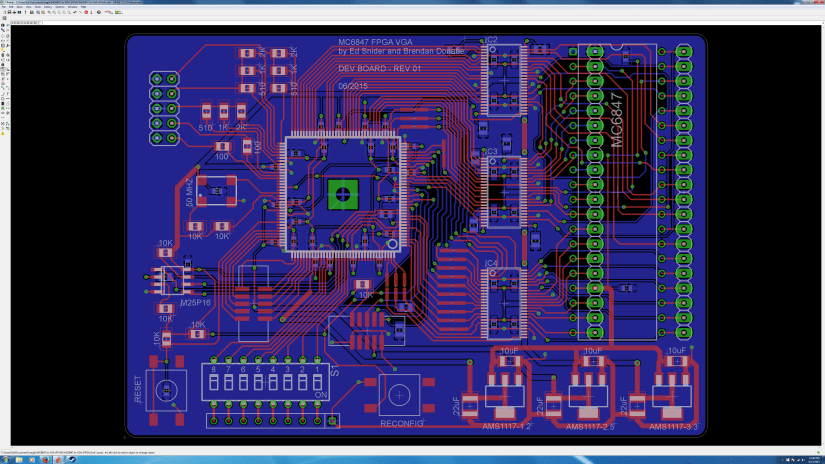 MC6847 FPGA VGA DEV BOARD 062315