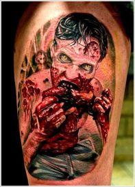 the walking dead zombie tattoo