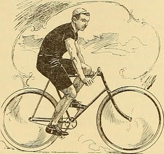 vintage photo. of cyclist