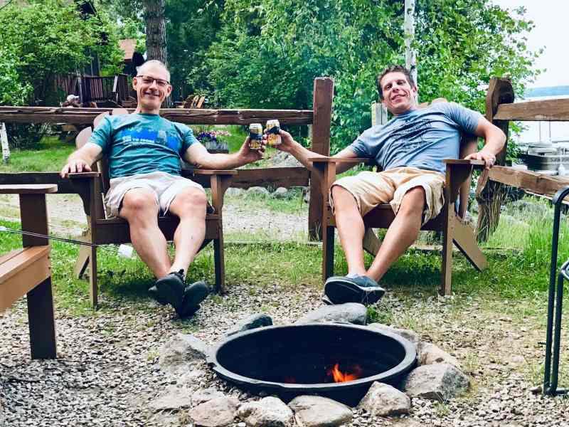 DIRT mates relaxing outdoors