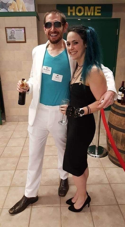 Matt Yankow and his wife in costume