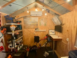 Author's indoor cycling gym
