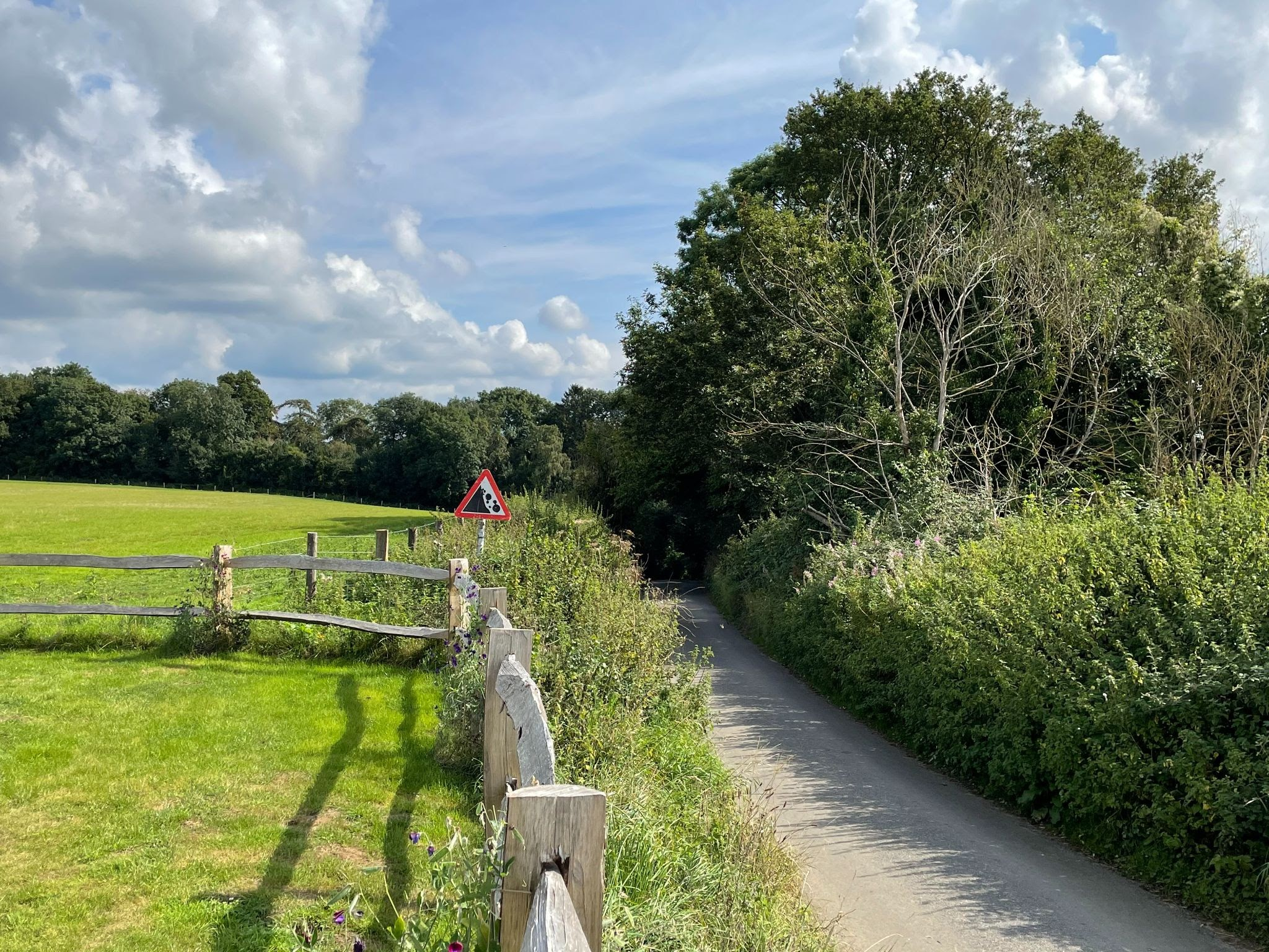 Gravel bike path