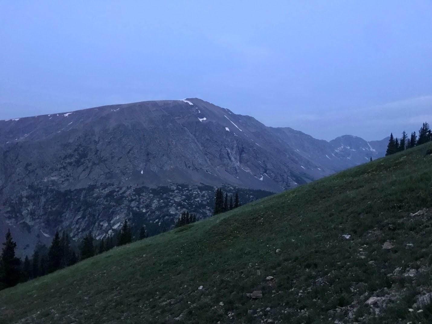 beautiful mountain in darkness