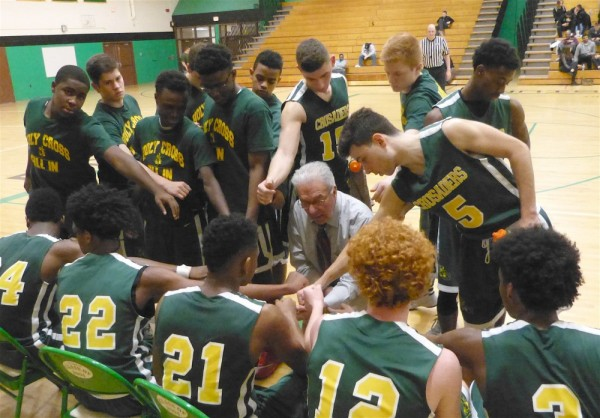 Holy Cross built a big early lead and then hung on down the stretch to defeat Wilby, 70-68, Wednesday night at Reggie O'Brien Gymnasium. (Palladino/RA)