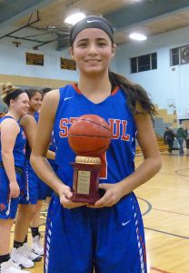 Janessa Gonzalez was MVP of the 2017 NVL girls basketball tournament. (RA)