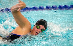 Seymour's Sierra Cripps took first place in the 200M freestyle during their meet with Sacred Heart S Wednesday at Kennedy High School in Waterbury. Jim Shannon Republican American
