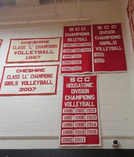 Cheshire High volleyball banner. (Roger Cleaveland/RA).