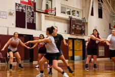 Torrington girls basketball team's first practice as they prepare for the upcoming 2018 season at Torrington High School in Torrington on Wednesday. Bill Shettle Republican-American