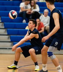 Oxford's Colin Speaker (5) settles the ball on during their match with Joel Barlow Monday at Oxford High School. Jim Shannon Republican American