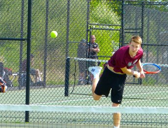Torrington boys tennis - Brandon Cisowski 1