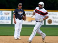 Terrryville's Billy Armstrong (31) rounds the bases after hitting a solo hoe run during their Stan Musial State Tournament game with Blasius Chevrolet Tuesday at Municipal Stadium in Waterbury. Jim Shannon Republican-American