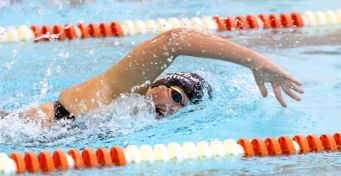 Sacred Heart's Sarah Griffith competes in the 100m freestyle during their NVL meet with WatertownTuesday at Watertown High School. Jim Shannon Republican-American