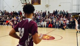 Alumni Hall was sold out for key NVL match-up between Sacred Heart and Naugatuck Friday at Alumni Hall at Sacred Heart High School. Jim Shannon Republican-American