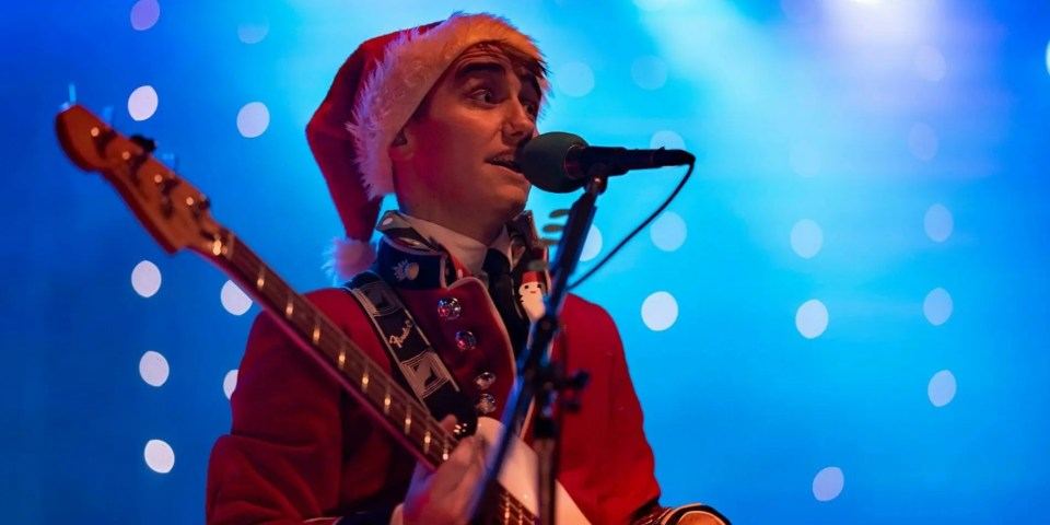 Ed from The Zoots at Salisbury Xmas party