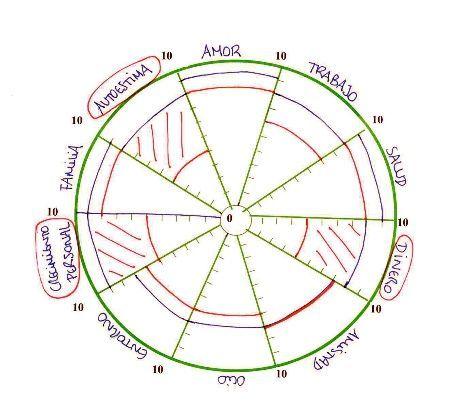 Gráfico de la rueda de la vida