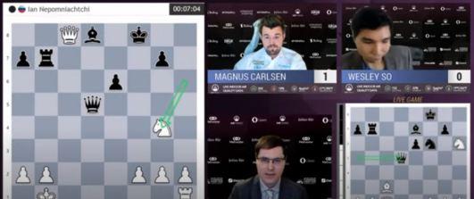 Magnus Carlsen Invitational. Carlsen supera a So y gana la primera partida.