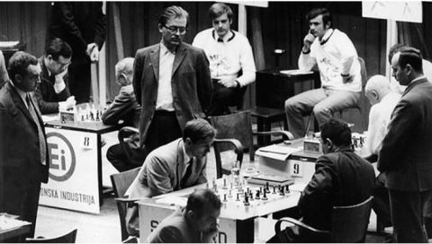 Bobby Fischer en el match 'URSS vs Rest of the World'