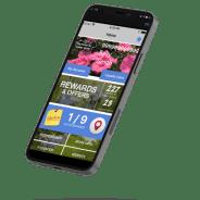 iPhone showing Rewards App
