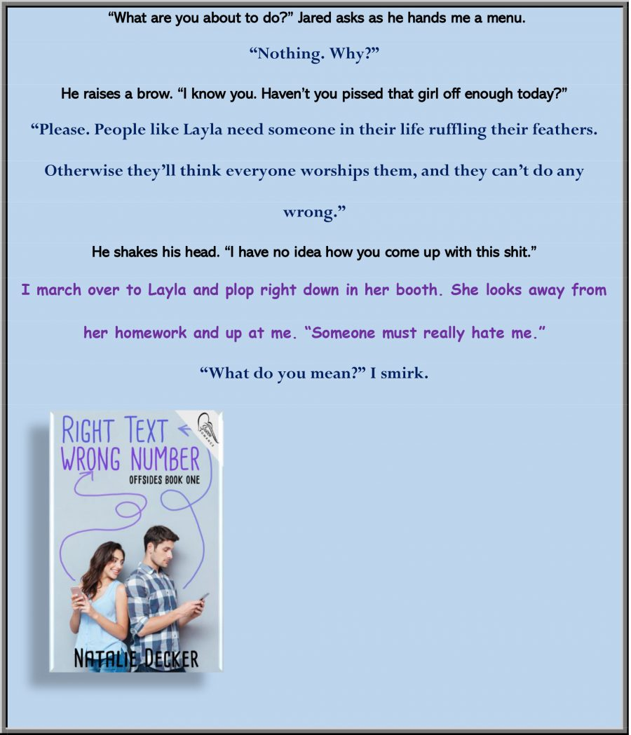 RIGHT TEXT WRONG NUMBER Teaser Excerpt