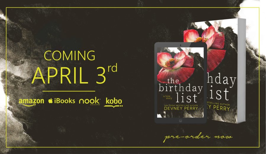 THE BIRTHDAY LIST Cover Reveal