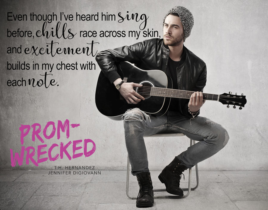 Teaser from Prom-Wrecked, and young adult contemporary romance by Jennifer DiGiovanni and T.H. Hernandez