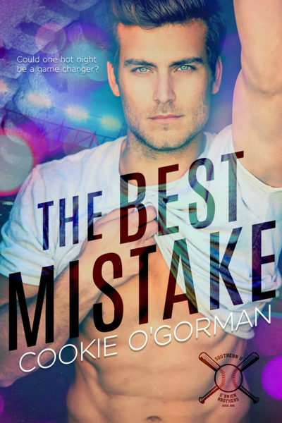 Cover to THE BEST MISTAKE, the first book in her new adult contemporary romance series, Southern U O'Brien Brothers, by Cookie O'Gorman, releasing April, 2020