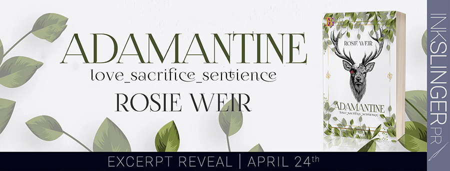 Champagne Book Group and debut author, Rosie Weir, are revealing an excerpt from ADAMANTINE, an adult scifi romance, releasing June 1, 2020