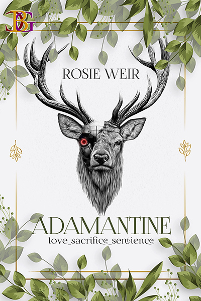 Cover for ADAMANTINE by Rosie Weir, an adult scifi romance, releasing June 1, 2020