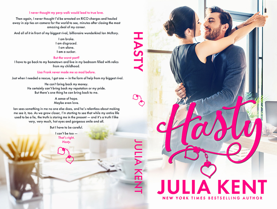 Paperback Cover to HASTY, the fourth book in the adult comedy romance series, Do-Over, releasing July 28, 2020